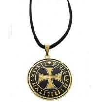 Damascene Templar Cross Pendant