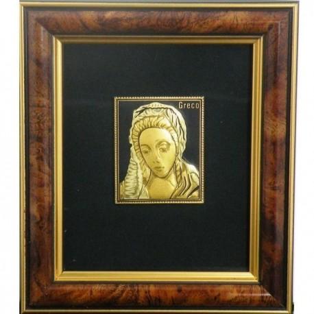 Virgin Mary-Damascene Framed Picture