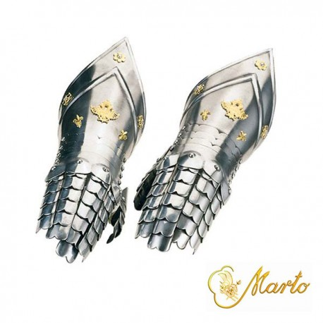 Medieval Gauntlets Deluxe Gold