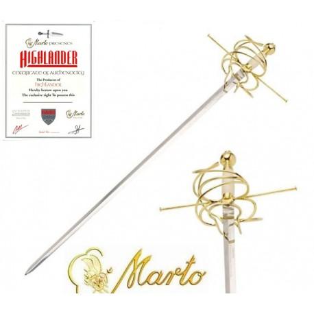 Golden Rapier Sword Highlander 20th Anniversary