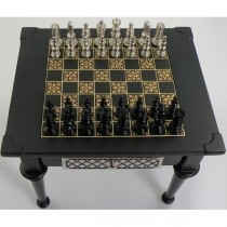 Damascene Gold Chess Set