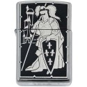 French Knight-Damascene Zippo Lighter