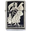 Pennant-Damascene Zippo Lighter