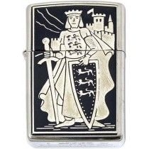 Richard the Lionheart-Damascene Zippo Lighter