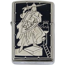Knight-Damascene Zippo Lighter