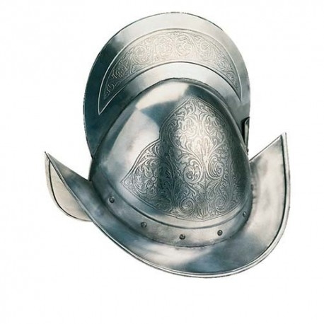 Spanish Morion Helmet Engraved