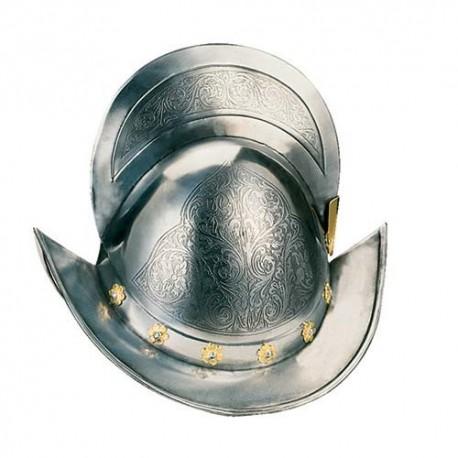 Spanish Morion Helmet Gold