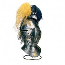 Jousting Knight Helmet Engraved