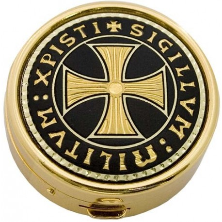 Damascene Templar Gold Pillbox
