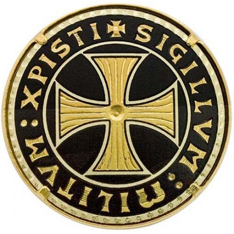 Damascene Templar Gold Brooch