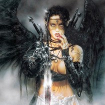Black Fantasy Sword by Luis Royo