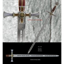Templar Knight Sword Damascus
