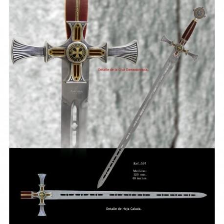Templar Knight Sword Damascus