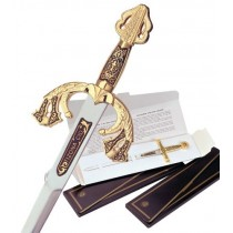 Damascene El Cid Tizona Sword Letter Opener