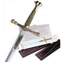 Damascene Charles V Sword Letter Opener