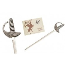 Miniature Zorro Sword Guy Williams Silver