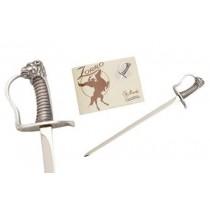 Miniature Zorro Elena Saber Sword Silver