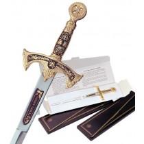 Damascene Templar Knight Sword Letter Opener
