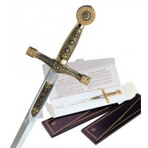 Damascene Excalibur Sword Letter Opener