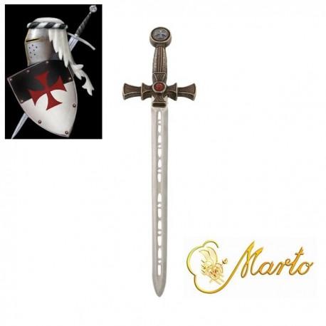 Templar Sword Miniature Bronze