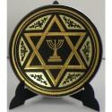 Damascene Gold Star of David Plate 2936